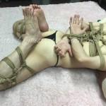 麻縄緊縛 SMクラブ 女王様 Kinbaku shibari japanese rope bondage hogtie 逆海老縛り